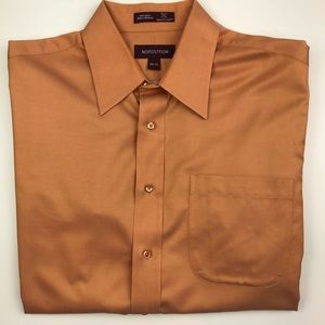 Nordstrom orange Smart Care button down shirt